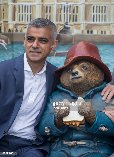 Sadiq Khan attends the Paddington's PopUp London launch at More London on October 19 2017 in London England