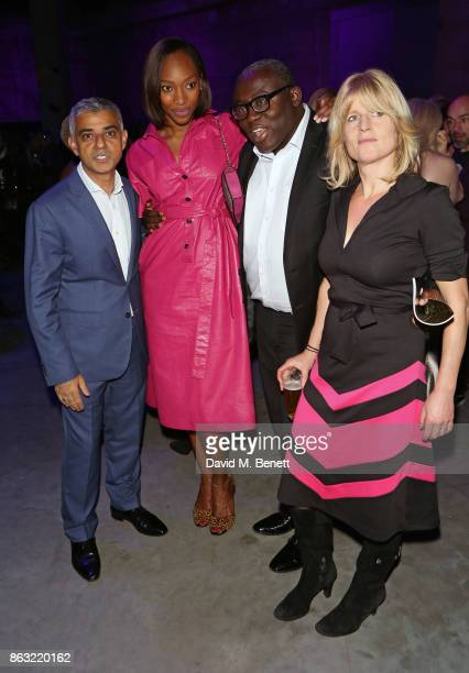 Sadiq Khan Vanessa Kingori Edward Enninful and Rachel Johnson attend The London Evening Standard's Progress 1000 London's Most Influential People in...