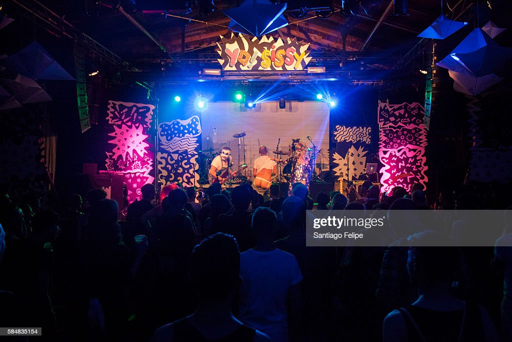 Sado Opera performs during the Yo Sissy music festival at Postbahnhof on July 29 2016 in Berlin Germany