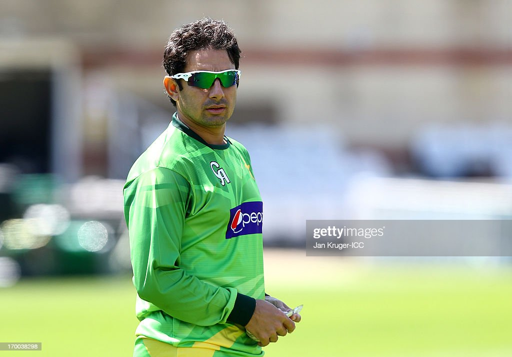 Saeed Ajmal bowls during a nets session at The Kia Oval on June 5, 2013 in London, England.