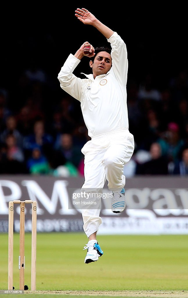 Saeed Ajmal of MCC in action during the MCC and Rest of the World match at Lord's Cricket Ground on July 5, 2014 in London, England.