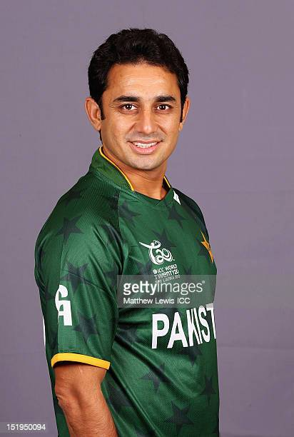 Saeed Ajmal of Pakistan pictured during a Pakistan Portrait Session ahead of the ICC T20 World Cup at the Cinnamon Grand Hotel on September 13 2012...