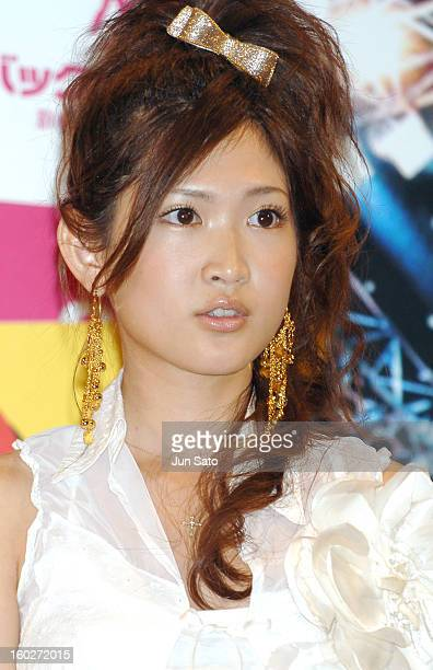 Saeko during 'Backdancers' Stage Greeting at Yomiuri Hall in Tokyo Japan
