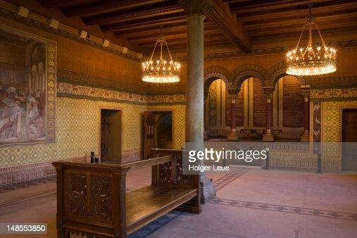 Saengersaal singer's hall in Wartburg medieval castle.