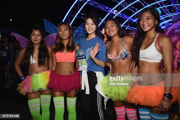 Saeron Kim of Korea poses for a photograph before during the United Airlines Guam Marathon 2017 on April 9 2017 in Guam Guam