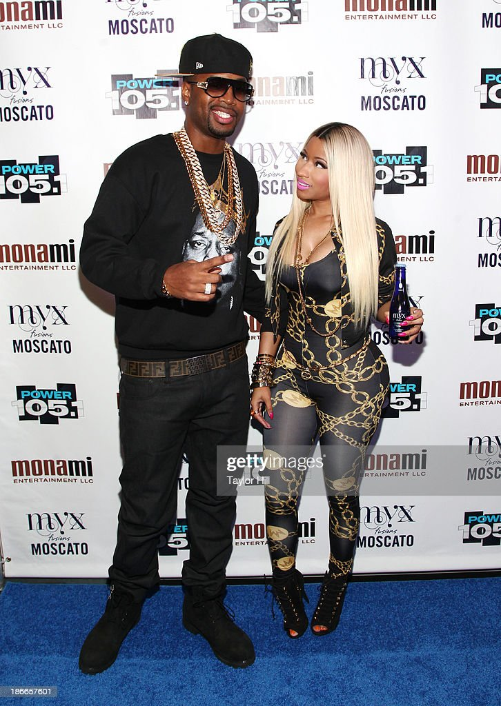 Safaree Lloyd Samuels and rapper Nicki Minaj attend Power 105.1's Powerhouse 2013, presented by Play GIG-IT, at Barclays Center on November 2, 2013 in New York City.
