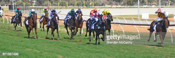 Safdie ridden by Jarrod Fry wins the TAC Plan Now To Get Home Later Maiden Plate at Swan Hill Racecourse on July 24 2017 in Swan Hill Australia