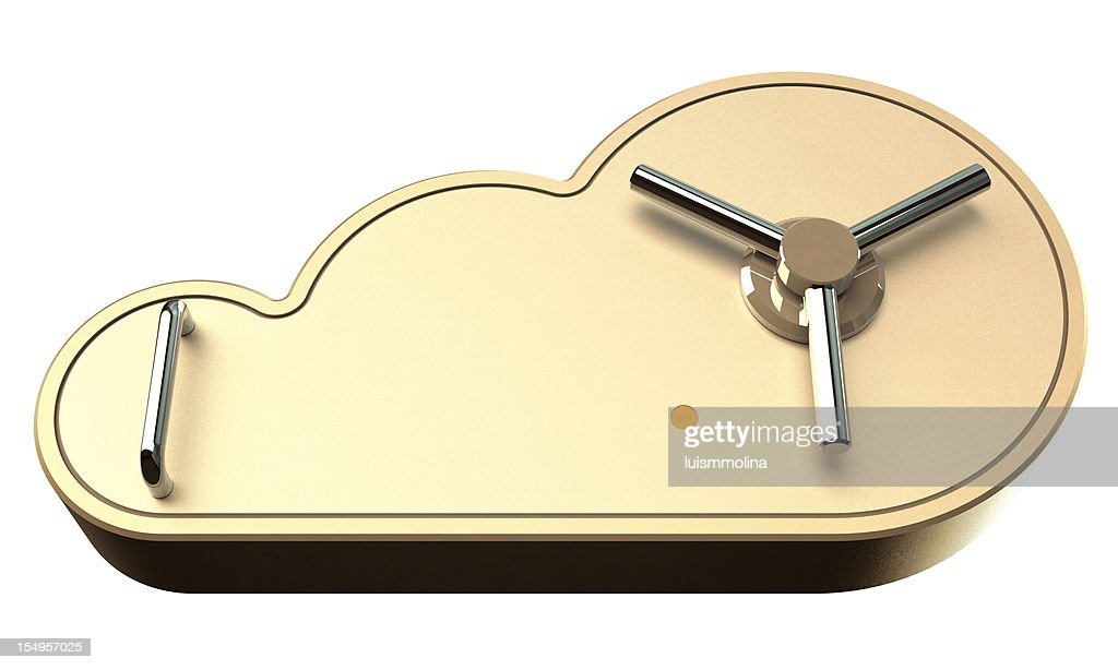 Safe Cloud Computing Concept : Stock Photo