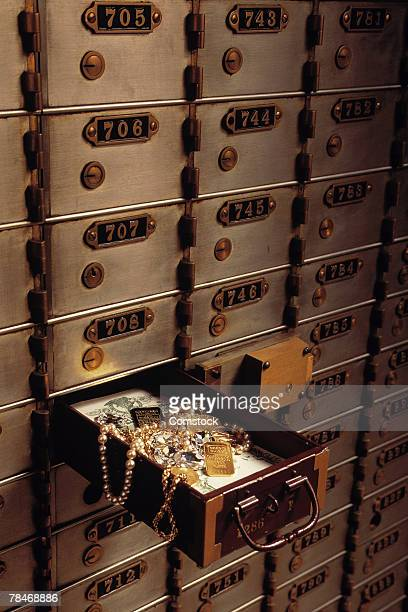 Safe deposit box in bank