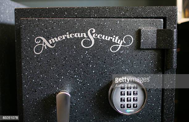 A safe is displayed at Warman Security October 13 2008 in San Francisco California As banks across the US fail and the economy falters sales of safes...