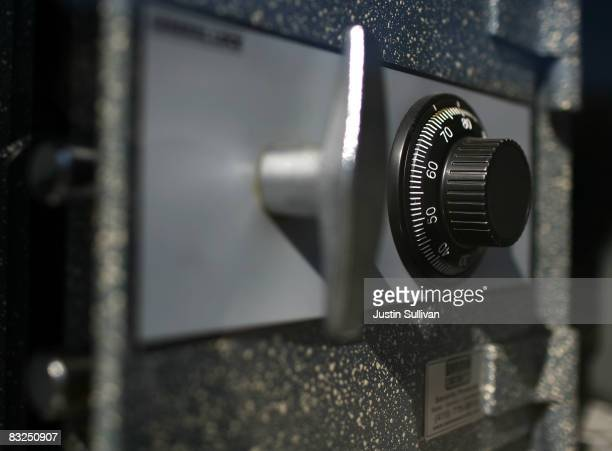 A safe is on display at Warman Security October 13 2008 in San Francisco California As banks across the US fail and the economy falters sales of...