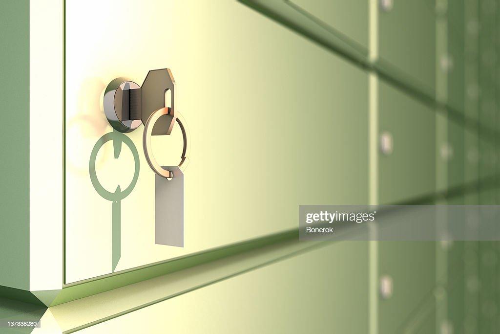 Safe mit Schlüssel : Stock-Foto