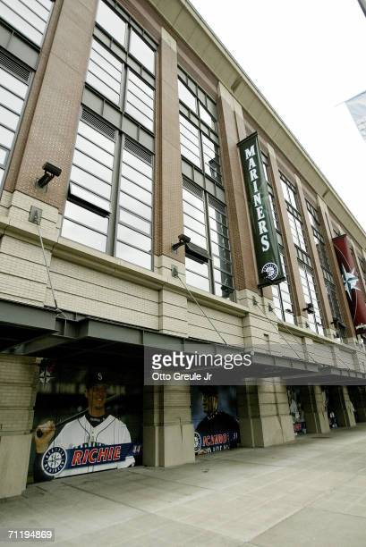 Safeco Field is shown before the Seattle Mariners game against the Minnesota Twins on June 8 2006 at Safeco Field in Seattle Washington The Twins...