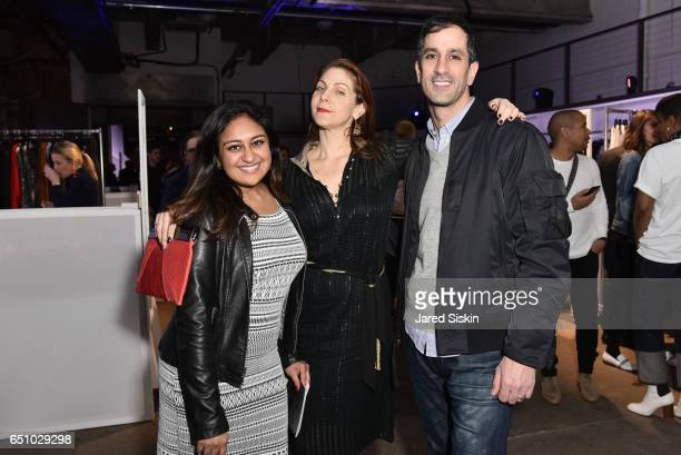 Safeena Mecklai Brooke Schafran and Noah Weinstein attend the Meatpacking District's 4th Annual Open Market at Highline Stages on March 9 2017 in New...