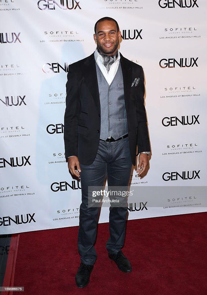Safety Bret Lockett attends the opening of the new bar Riviera 31 at the Sofitel L.A. Hotel on January 15, 2013 in Beverly Hills, California.