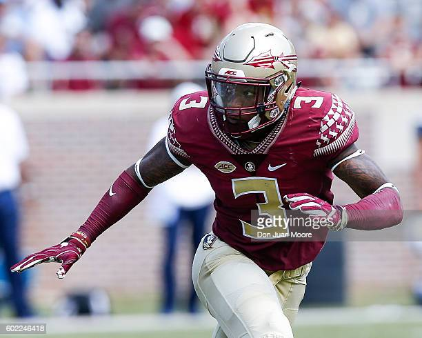 Safety Derwin James of the Florida State Seminoles during the game against the Charleston Southern Buccaneers at Doak Campbell Stadium on Bobby...