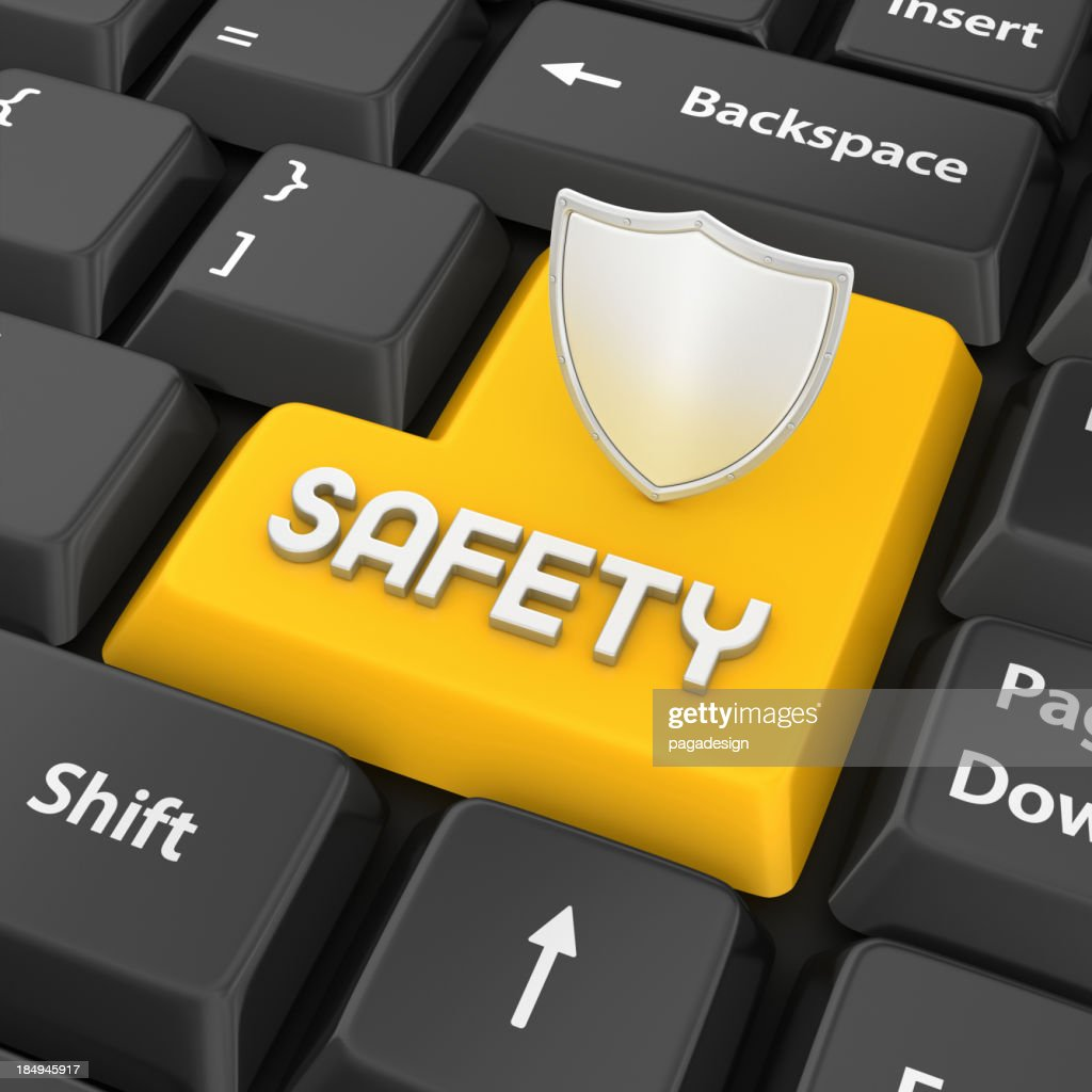 safety enter key : Stock Photo