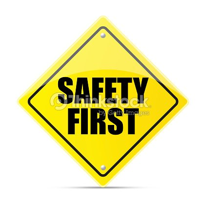safety first road sign stock photo thinkstock. Black Bedroom Furniture Sets. Home Design Ideas