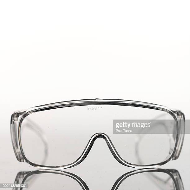 Safety glasses, close up