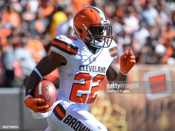 Safety Jabrill Peppers of the Cleveland Browns returns a kickoff in the second quarter of a game on October 1 2017 against the Cincinnati Bengals at...