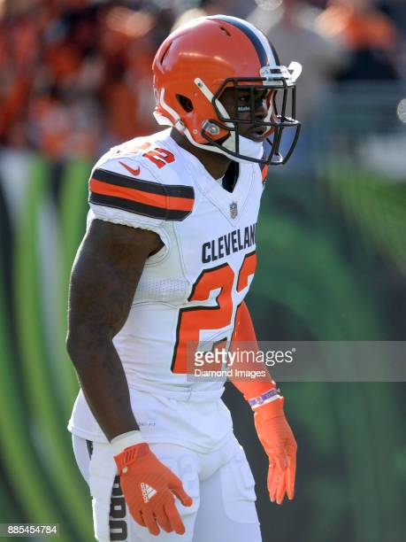 Safety Jabrill Peppers of the Cleveland Browns stands on the field prior to a game on November 26 2017 against the Cincinnati Bengals at Paul Brown...