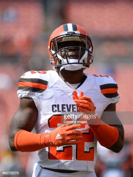 Safety Jabrill Peppers of the Cleveland Browns walks onto the field prior to a game on September 10 2017 against the Pittsburgh Steelers at...