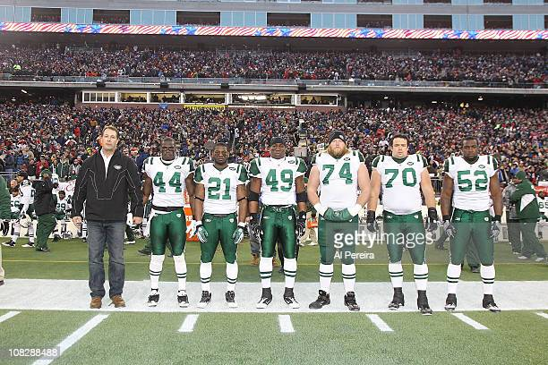 Safety James Ihedigbo and Running Back LaDanian Tomlinson Fullback Tony RIchardson Center Nick Mangold Defensive End Mike DeVIto and Linebacker David...
