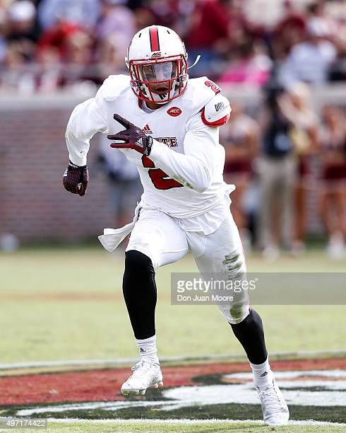 Safety Josh Jones of the North Carolina State Wolfpack during the game against the Florida State Seminoles at Doak Campbell Stadium on Bobby Bowden...