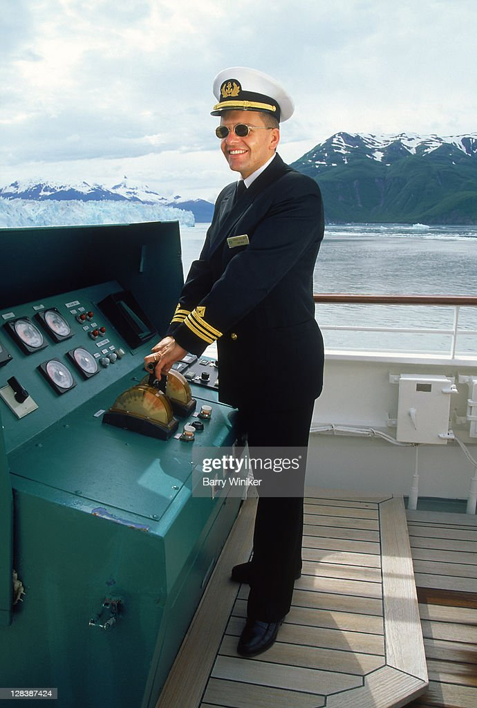 Safety officer on bridge of cruise ship