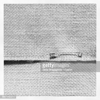 Safety Pin In Textile