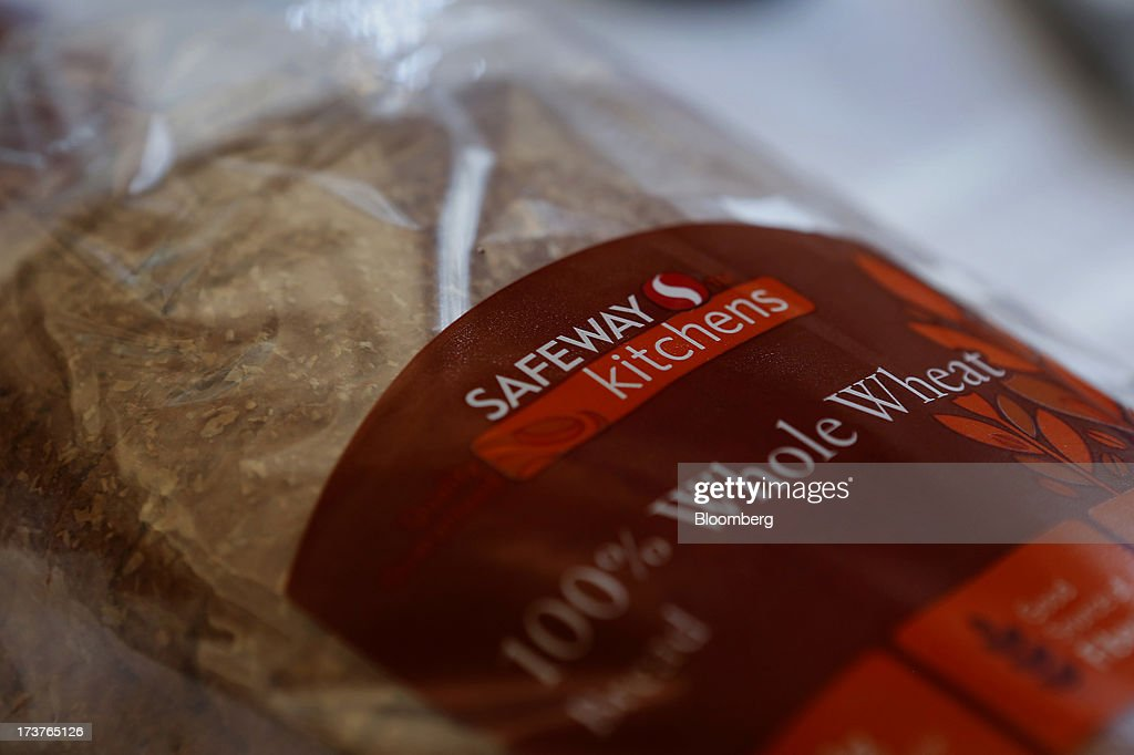 Safeway Inc. whole wheat bread is arranged for a photograph in Torrance, California, U.S., on Tuesday, July 16, 2013. Safeway Inc. is scheduled to release earnings figures on July 18. Photographer: Patrick T. Fallon/Bloomberg via Getty Images