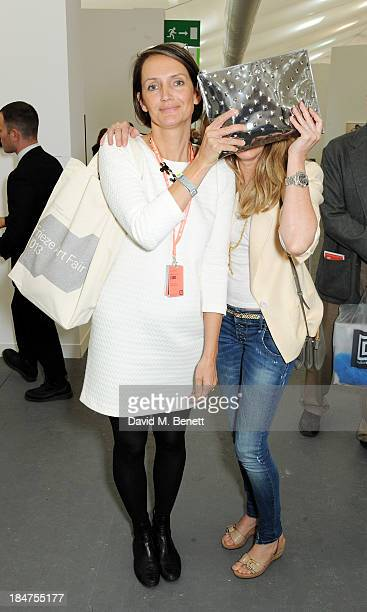 Saffron Aldridge and Avery Agnelli attend the VIP preview of the annual Frieze Art Fair in Regent's Park on October 16 2013 in London England