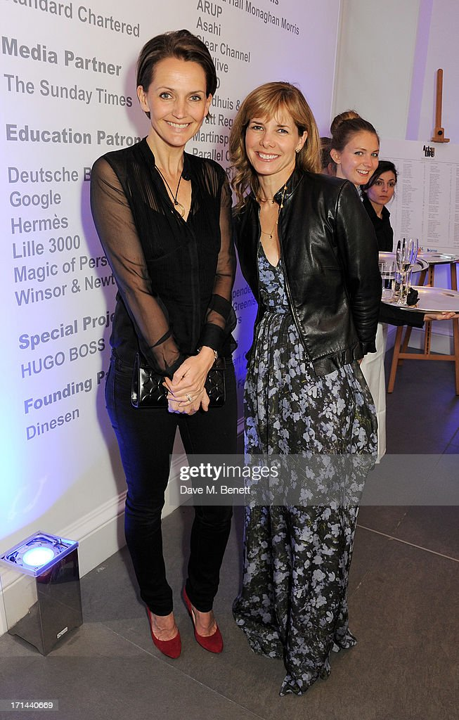 <a gi-track='captionPersonalityLinkClicked' href=/galleries/search?phrase=Saffron+Aldridge&family=editorial&specificpeople=208837 ng-click='$event.stopPropagation()'>Saffron Aldridge</a> (L) and <a gi-track='captionPersonalityLinkClicked' href=/galleries/search?phrase=Darcey+Bussell&family=editorial&specificpeople=533049 ng-click='$event.stopPropagation()'>Darcey Bussell</a> attend the 'Arts For Life' charity auction hosted by Susan Hayden, Nadja Swarovski and Natalia Vodianova to raise funds for Borne, a research programme on premature birth, at the Saatchi Gallery on June 24, 2013 in London, England.