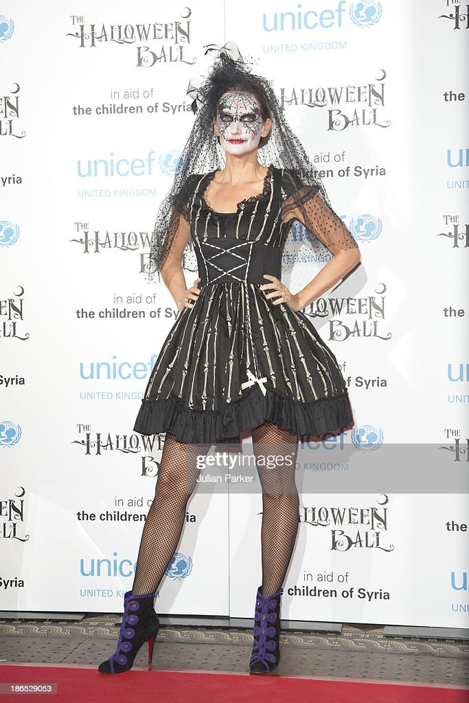 <a gi-track='captionPersonalityLinkClicked' href=/galleries/search?phrase=Saffron+Aldridge&family=editorial&specificpeople=208837 ng-click='$event.stopPropagation()'>Saffron Aldridge</a> attends The UNICEF Halloween Ball at One Mayfair on October 31, 2013 in London, England.