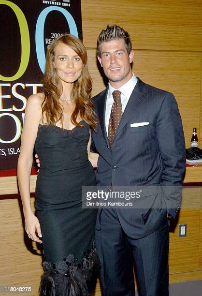 Saffron Burrows and Jesse Palmer during Conde Nast Traveler 17th Annual Readers Choice Awards Green Room in New York City New York