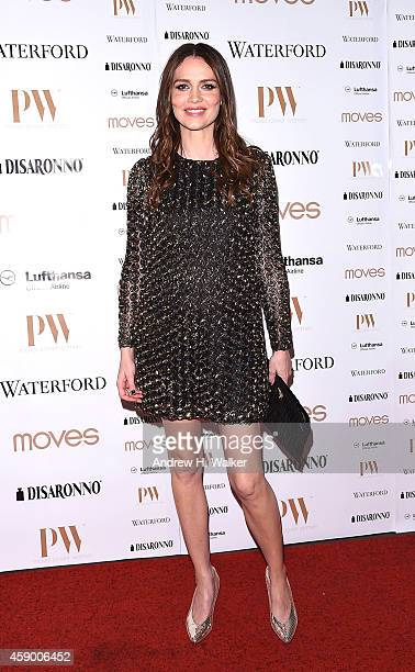 Saffron Burrows attends the Moves 2014 Power Women Gala at India House Club on November 14 2014 in New York City