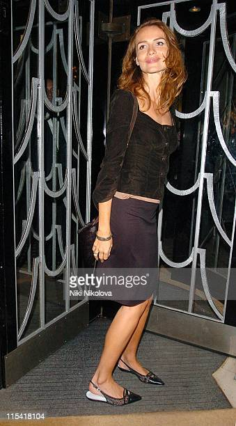 Saffron Burrows during 2006 White Cube Party at Claridges in London Great Britain