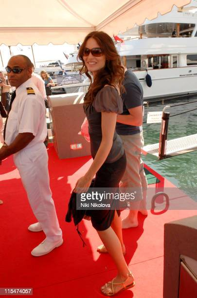 Saffron Burrows during 2007 Cannes Film Festival Sightings Day 3 in Cannes France