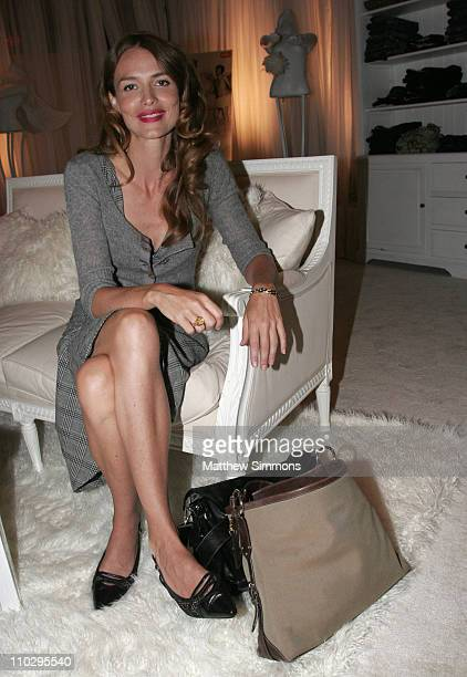 Saffron Burrows during 31st Annual Toronto International Film Festival Saffron Burrows Jef Goldblum Portraits at Portrait Studio in Toronto Ontario...