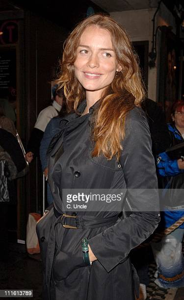 Saffron Burrows during 'Bent' Press Night Arrivals October 5 2006 at Trafalgar Studios in London Great Britain