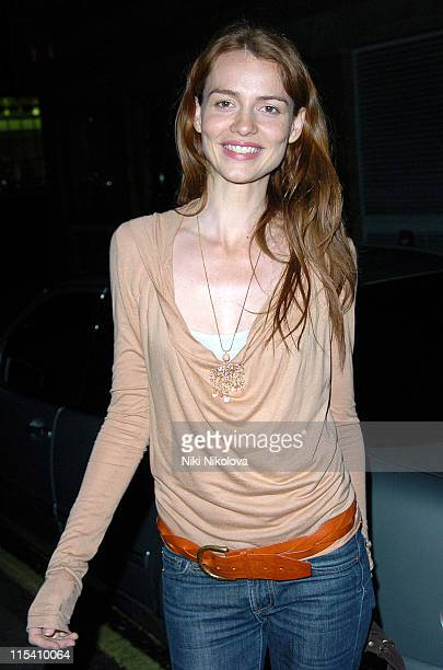 Saffron Burrows during Celebrity Sightings at the Cabaret Club in London July 30 2005 at Cabaret Club in London Great Britain