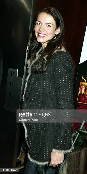 Saffron Burrows in Bella Freud during 'Nicholas Nickleby' Premiere New York Arrivals at Beekman Theater in New York City New York United States