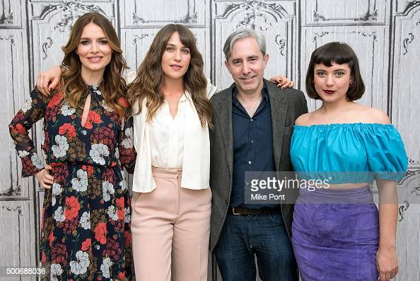 Saffron Burrows Lola Kirke Paul Weitz and Hannah Dunne attend the AOL BUILD Series 'Mozart In The Jungle' at AOL Studios In New York on December 9...