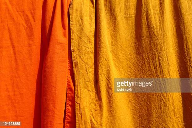 Saffron fabric used by the Buddhist monks