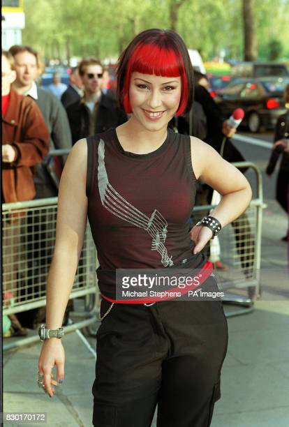Saffron from the band Republica arrives at the Sony Radio Awards held at the Grosvenor House Hotel in London