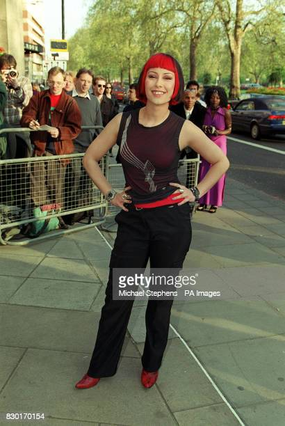 Saffron from the pop band Republica arrives at the Sony Radio Awards held at the Grosvenor House Hotel in London