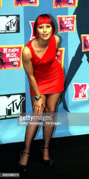 Saffron lead singer with Republica at the MTV Awards ceremony at the Filaforum near Milan