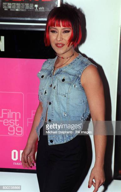 Saffron lead singer with the band Republica at the Camden Odeon cinema in London for a celebrity screening of the reissued film 'Stop Making Sense'...