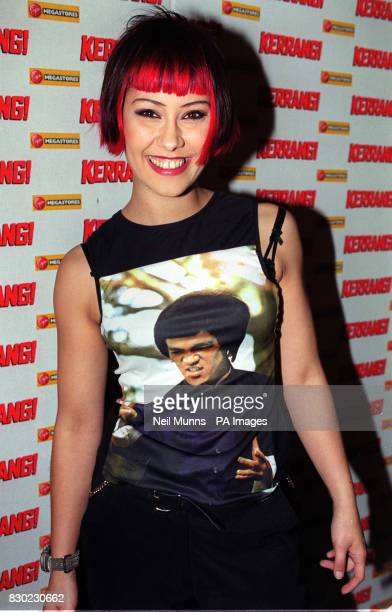 Saffron of the band Republica at the Kerrang music awards at the Cumberland Hotel in London