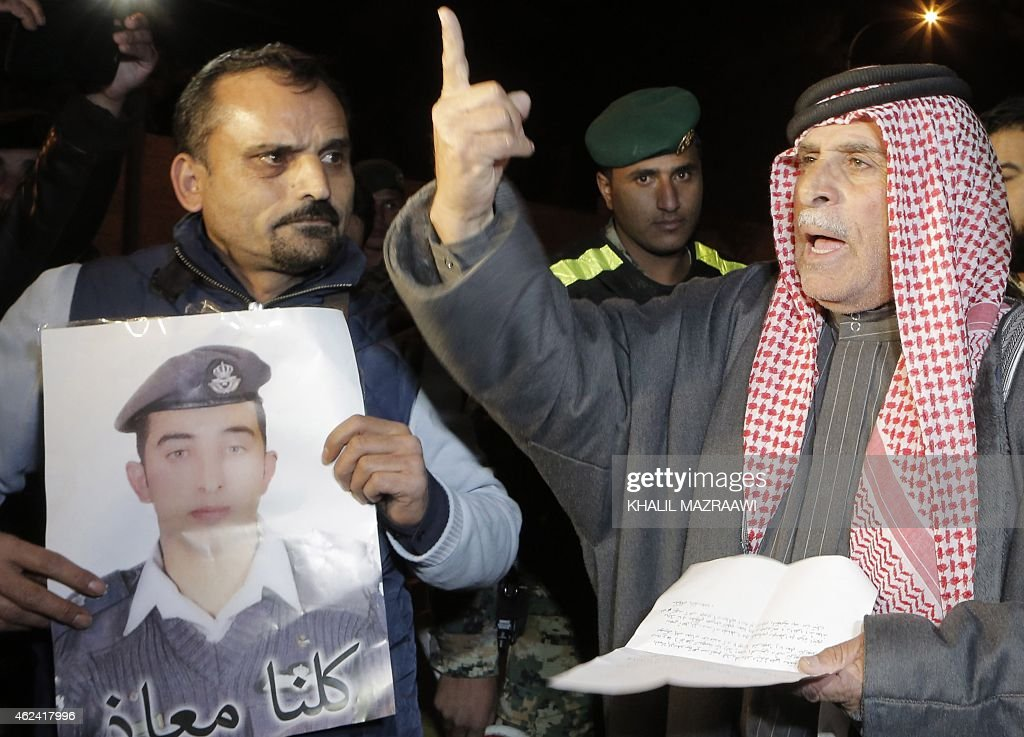 Safi alKassasbeh the father of Jordanian pilot Maaz alKassasbeh who was captured by Islamic State group militants on December 24 after his F16 jet...